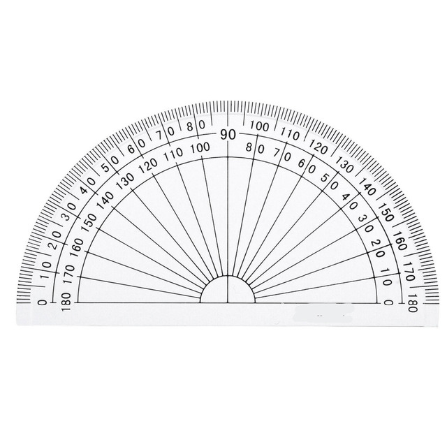 1 Piece Plastic Protractor 180 Degrees Protractor For