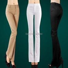春の秋の女性のカジュアルパンツ女性のプラスサイズのブーツカットズボンミニチュア女性 2019 ズボンパンツ服 flare