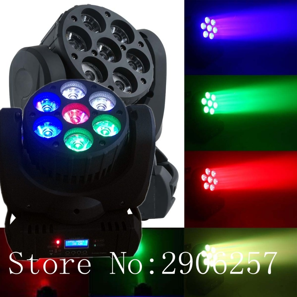 factory sale 7x12w led beam mini moving head christmas lights dj disco stage party effect light in stage lighting effect from lights lighting on