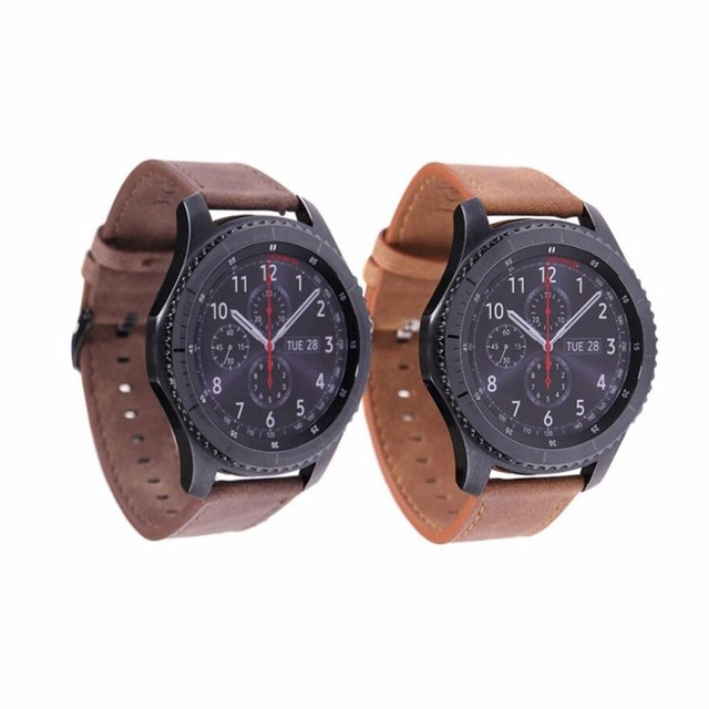 Genuine Leather watchband for Samsung Gear S3 Frontier band strap Galaxy watch 4