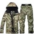 Veste de Ski thermique imperméable + pantalon de Snowboard homme Ski en plein air et Snowboard Ski de neige combinaison de fret gratuit hiver Ski costume hommes