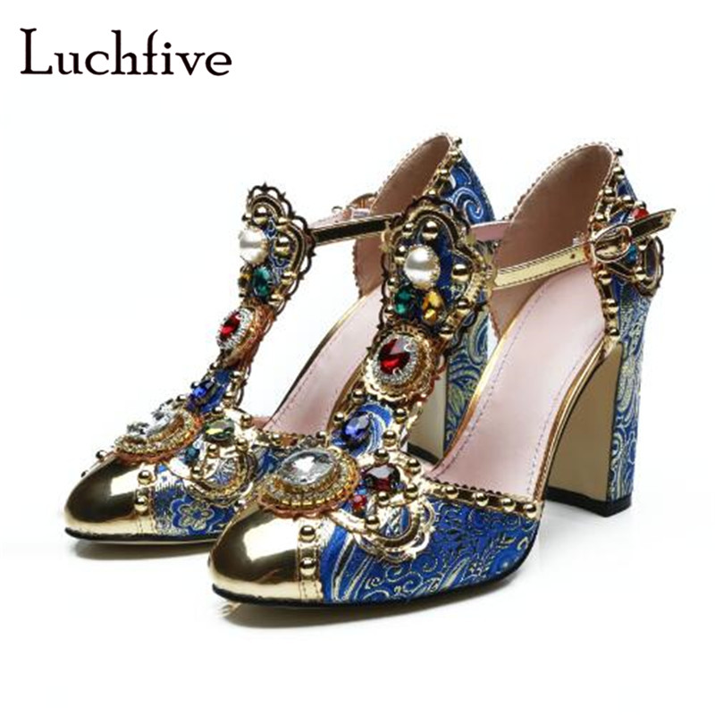 27c203d364 Rhinestone-pearls-women-sandals-ankle-buckle-strap-round-toe-ladies-shoes -chunky-high-heels-casual-party.jpg