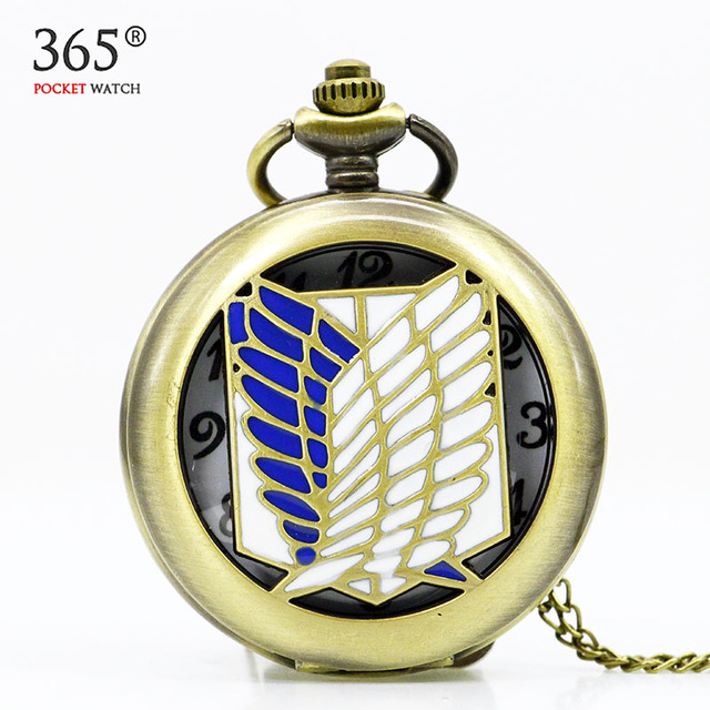 Attack on Titan Themed Necklace Pocket Watch