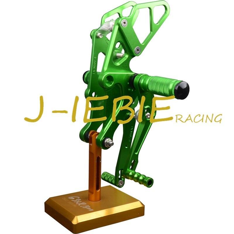 CNC Racing Rearset Adjustable Rear Sets Foot pegs Fit For Yamaha FZ07 MT07 2014 2015 2016 GREEN cnc racing rearset adjustable rear sets foot pegs fit for honda cbr600 cbr 600 f4 f4i 1999 2000 2001 2002 2003 2004 2005 2006