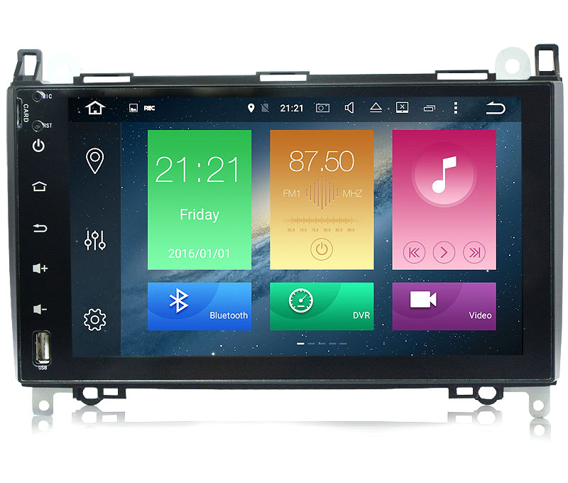 Android 8.1 Car GPS For <font><b>Mercedes</b></font> Benz B200 Sprinter B class <font><b>W245</b></font> <font><b>B170</b></font> W209 W169 radio stereo no dvd player image