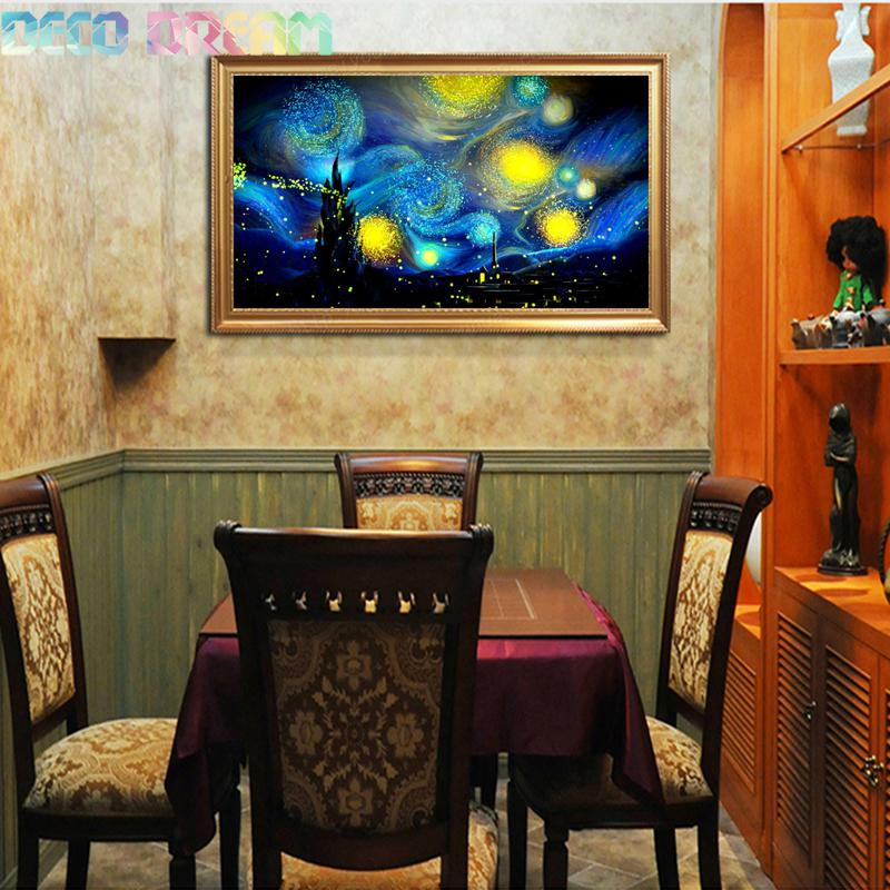 Needle Arts Craft Diy Full Resin Round Diamond Mosaic Scenery Oil Painting Cross Stitch Embroidery Vast Sky Popular Hobby Gift in Diamond Painting Cross Stitch from Home Garden