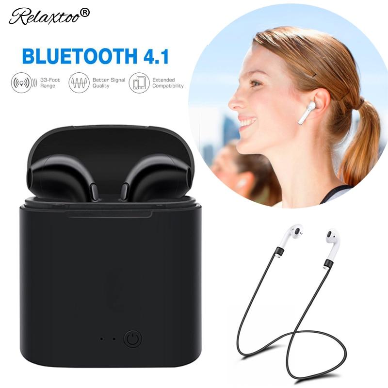 Anti-Lost Wireless Headphone Bluetooth Earphone Bloototh Headset for iphone 7 samsung sony xiaomi huawei p20 lite sport Earbuds