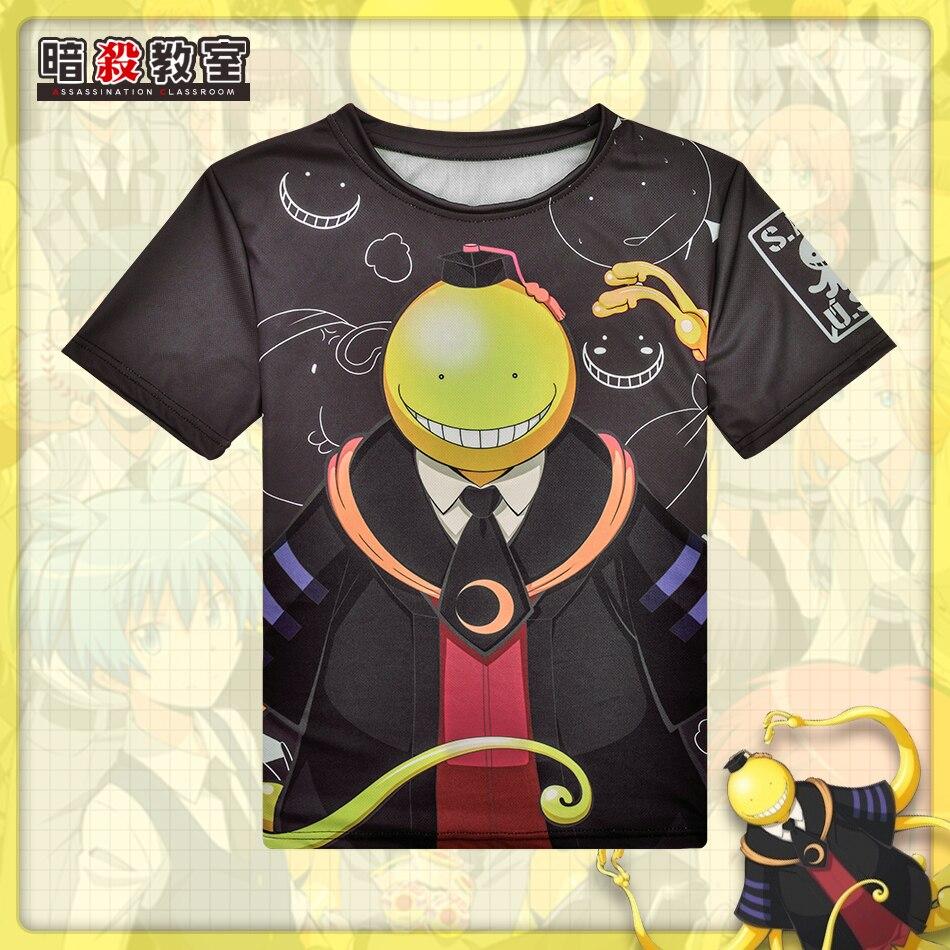 Envío libre asesinato aula o-cuello algodón camiseta animación Cosplay 44d0588b9e867