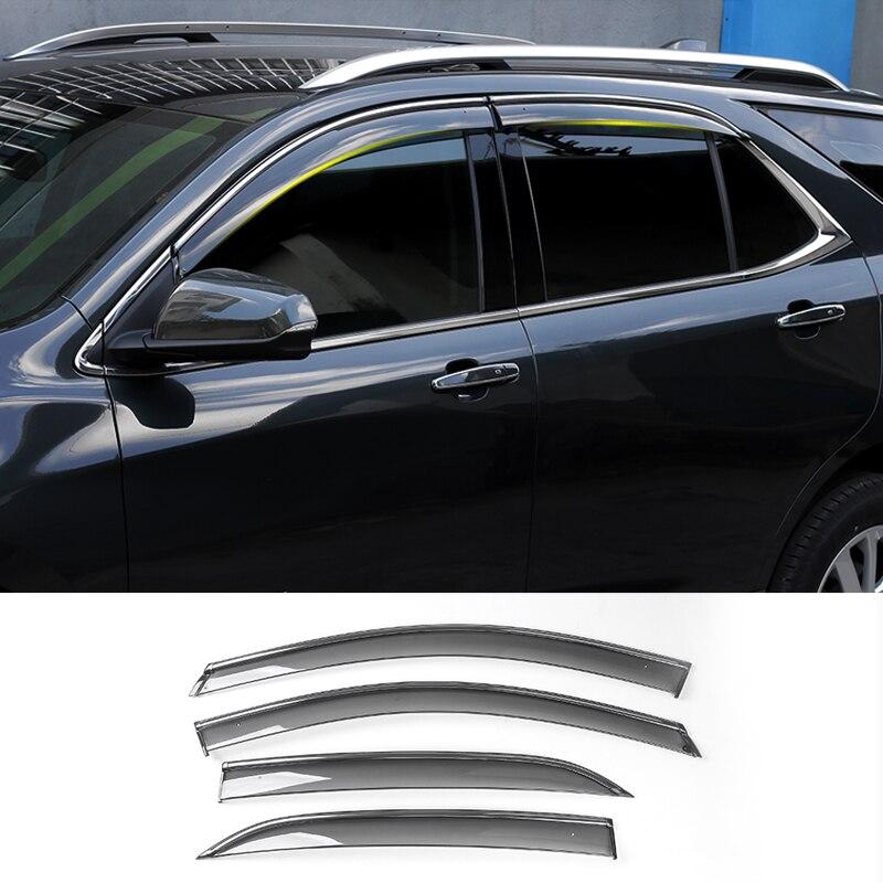 SHINEKA Protector Awnings Car-Window-Shade Plastic Rain for Chevrolet Equinox Sun-Visor
