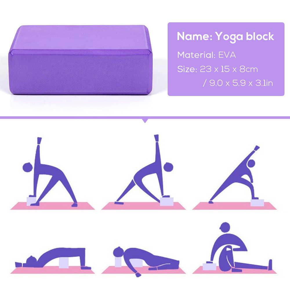 5 sztuk joga piłka blok zestaw sprzętu antypoślizgowe jogi rozciąganie pasek odporność na taśmy sportowe taśma do ćwiczeń Fitness joga bloki