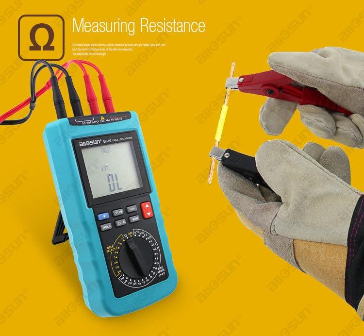 Moderno misuratore di lunghezza del cavo digitale Display a 4 1/2 - Strumenti di misura - Fotografia 5