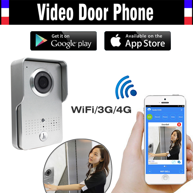 Wireless IP Wifi Doorbell Intercom Peephole Video Door Phone Camera Door bell Support IOS Android Smart Phone Rainproof Cover digital video intercom door phone doorbell wireless camera doorbell ip intercom video door bell phone eye hole door viewer