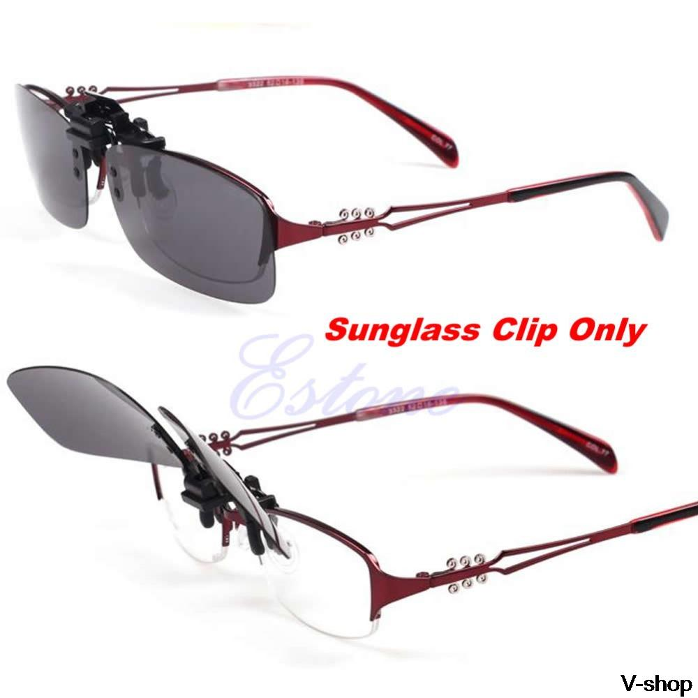 ec43dfffde Hot Clip on Flip up Lens Polarized Day Night Vision Sunglasses Driving  Glasses S