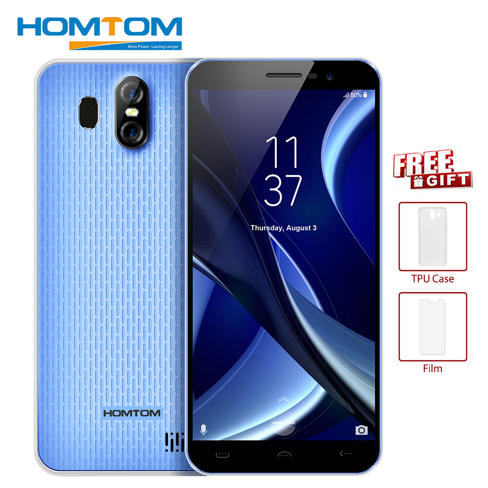 HOMTOM S16 5.5Inch 18:9 Edge-Less Display Smartphone Android7.0 MT6580 Quad Core 2GB 16GB 13MP 3000mAh OTA Fingerprint Cellphone