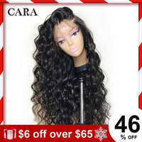 250 Density Lace Front Human Hair Wigs Loose Wave Wig For Women Natural Black Brazilian 13x4 Lace Front Wig Remy Human Hair CARA