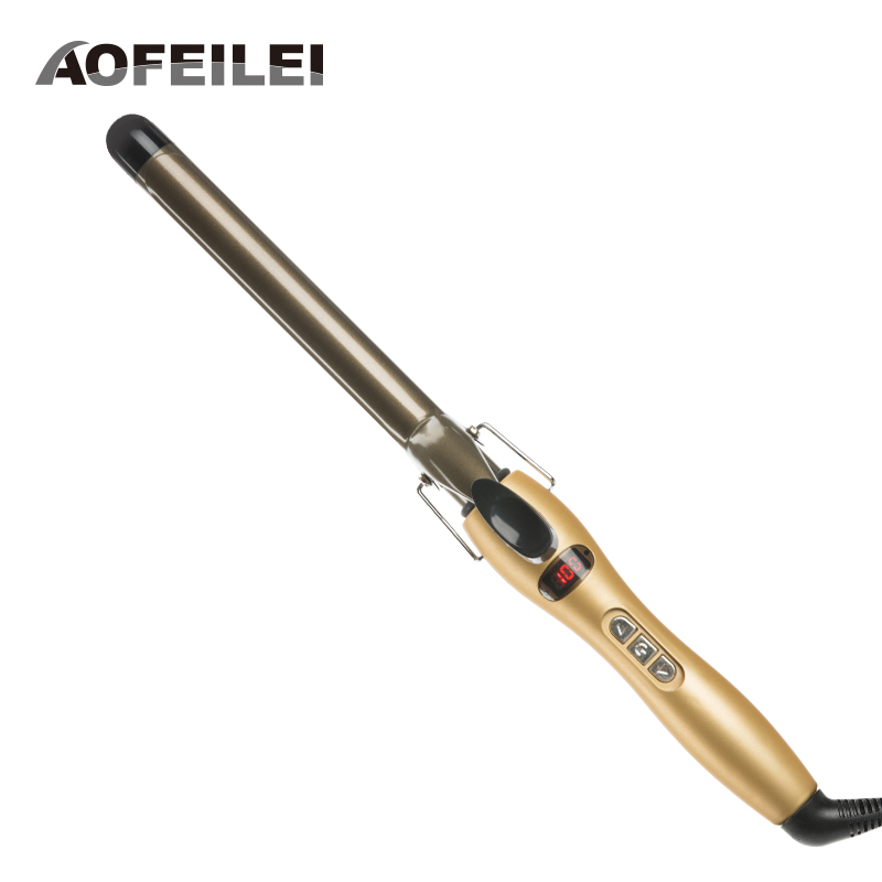 Rizador Pelo Professional Ceramic Curling Iron Digital Hair Curlers Styler Heating Styling Tools Eu Plug Aofeilei Wand Irons automatic hair curler roller magic styler curling iron electric ceramic spiral wand rizador pelo hair styling tools hs10 s58