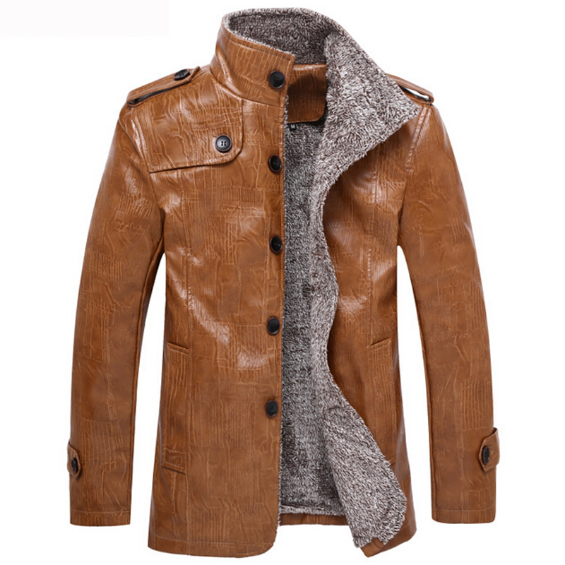 Winter Leather Jacket Men Fashion PU Coat Male Motorcycle Leather jackets For Men jaqueta de couro masculino Brand Clothing