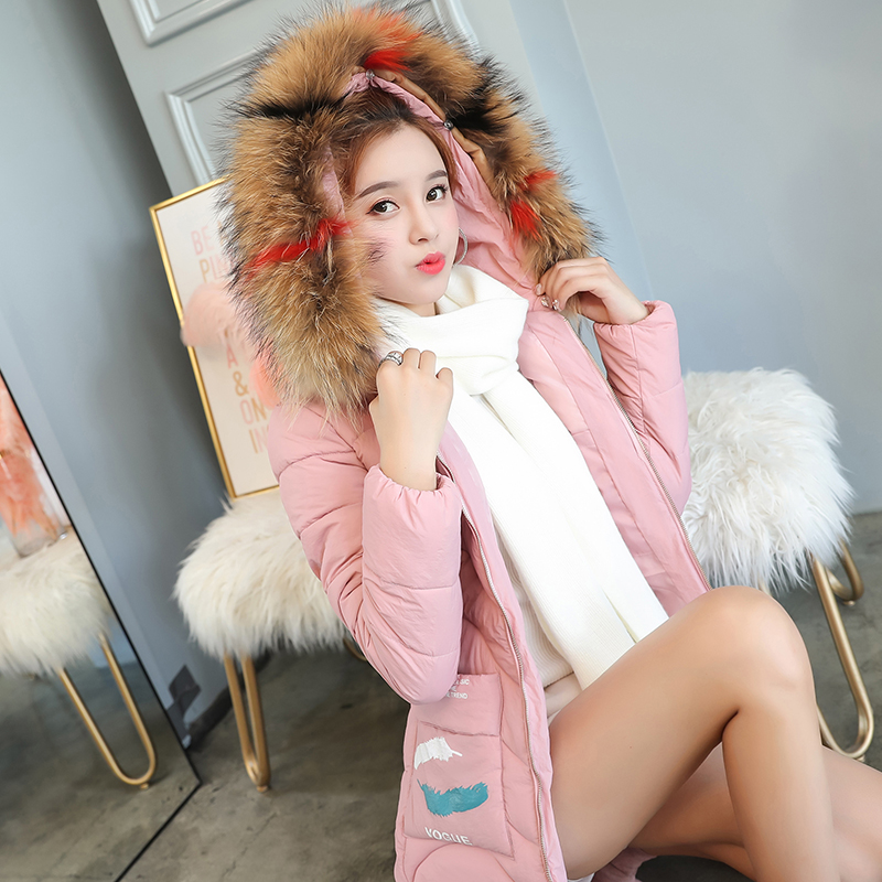 18 Girls Winter Coat 17 Coat Fashion 16 New Thick Fur Collar Loose Wild 19 Female Students Thick 20 Long Down Jacket 15 Girls цена 2017