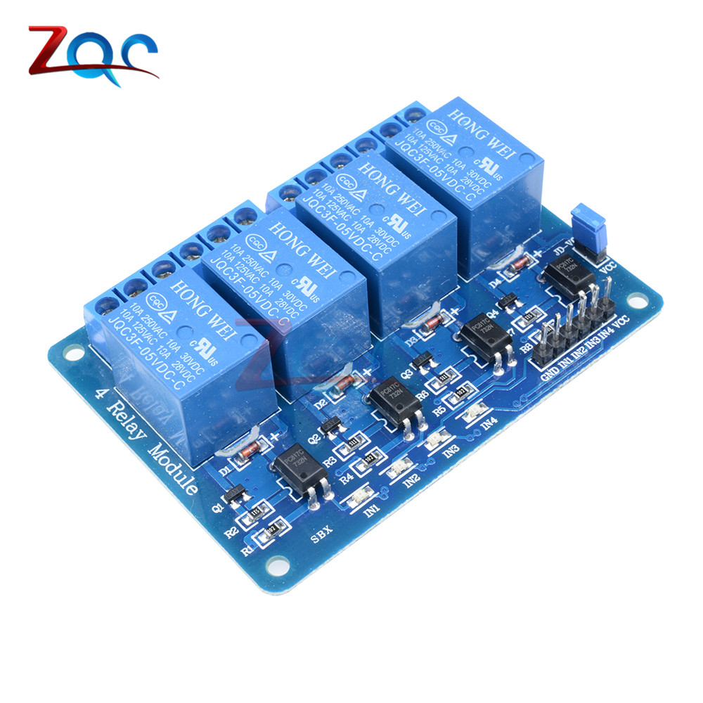 5V 4 Channel Relay Module 4-channel Relay Control Board For Arduino With Optocoupler Relay Output 4 Way Relay Module 5v 2 channel ir relay shield expansion board module for arduino with infrared remote controller