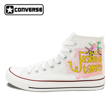 Оригинальный Дизайн Вашингтон карта города ручной росписью обувь Converse All Star высокие кроссовки белого холста Для мужчин Для женщин уникальные подарки