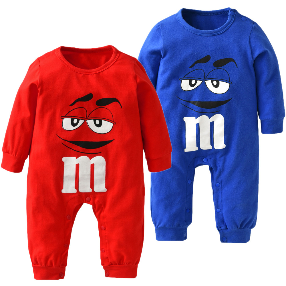 New 2018 Autumn Baby Boy Girl Rompers High Quality Cotton Long sleeve Red and Blue Cartoon Infant Jumpsuit Newborn Baby Clothes