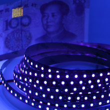 5 M UV LED Strip Light 5050 3528 SMD Ultraviolet 395-405nm 60LED/M 120led/M LED Diode Pita fleksibel Pita Lampu DJ Fluoresensi(China)