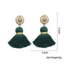 MANILAI 10 Colors Bohemian Tassels Earrings For Women Gold Color Metal Simple Tassel Dangle Earrings Ethnic Jewelry Handmade