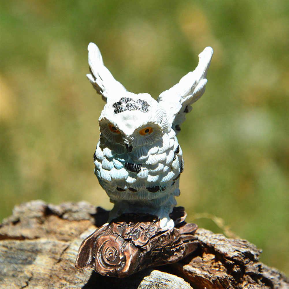 Resin Patio Mini Gifts Imitation Owl Simulation Miniature Cute Micro Landscape DIY Outdoor Home Bonsai Garden Decoration Craft
