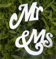 2015 Wedding Photo Props MR MRS Wedding Chair Banner Wooden Signs Photo Booth Props Wedding