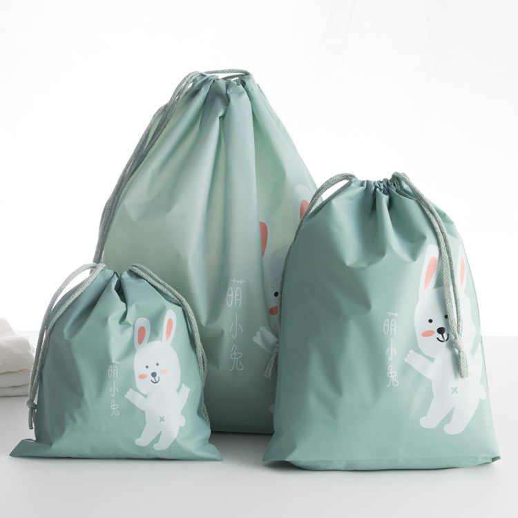 ETya organizator podróży przenośne pokrowiec torba kobiety mężczyźni wodoodporne buty odzież torby sznurek bielizna kosmetyczne torby