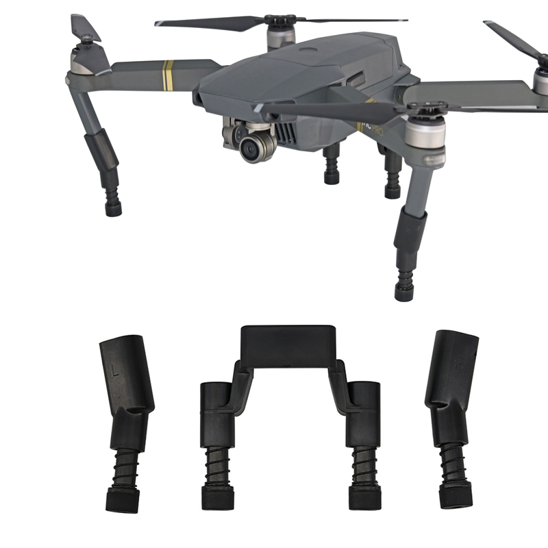 Landing Gear Kits For Dji Mavic Pro Platinum Drone Protector Guard Heightened Extend Leg Feet With Spring Shockproof Spare Parts Consumer Electronics Accessories & Parts