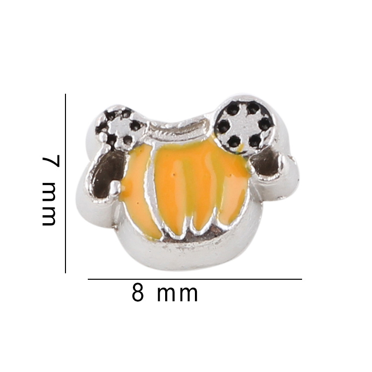 Free Shipping, 20pcs Enamel Pumpkin Floating Charms Fit For Glass Living Memory Lockets, Gifts