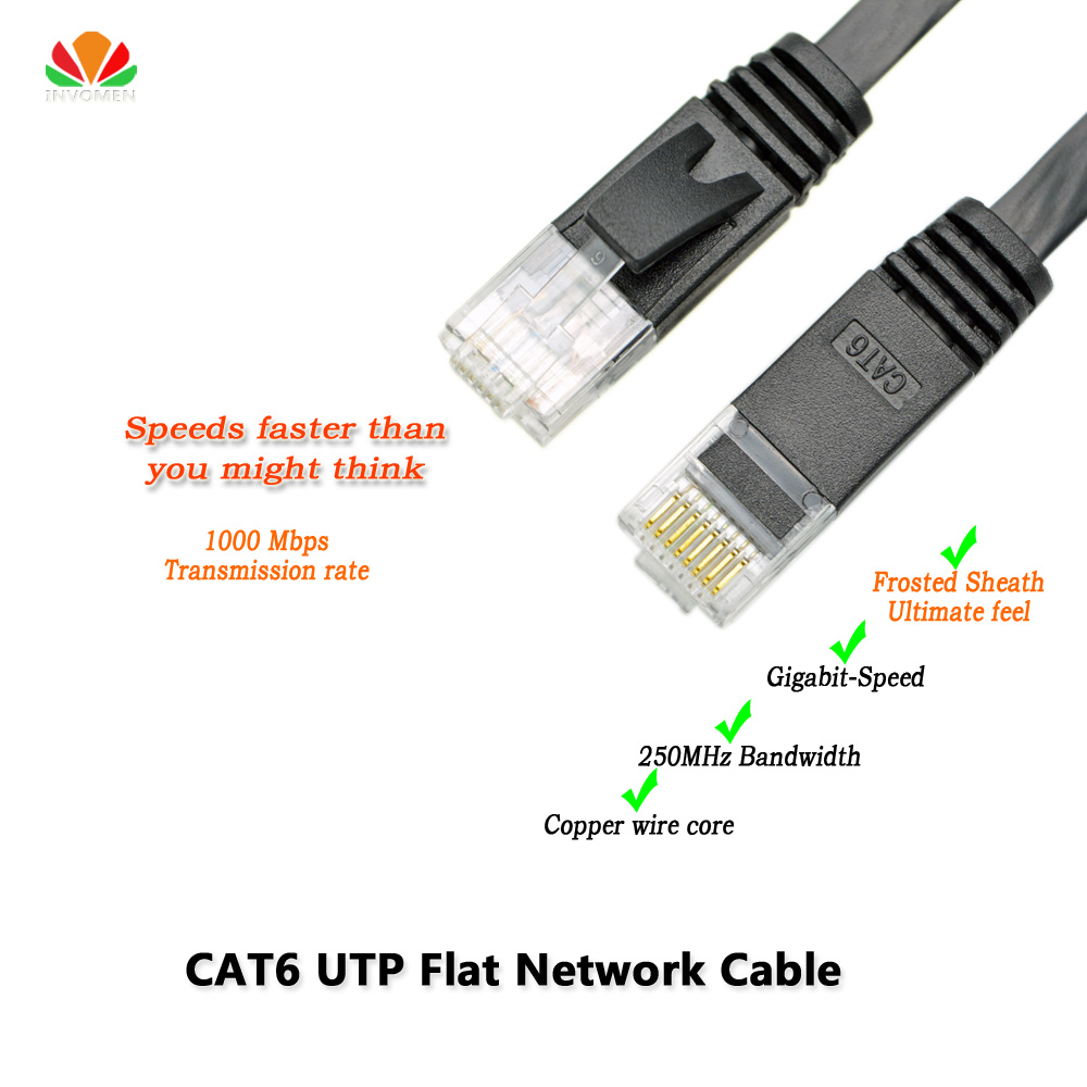 3ft 1m CAT6 Ethernet cable flat UTP CAT6 network cable Gigabit Ethernet Patch Cord RJ45 network twisted pair Lan cable for GigE cat6 ethernet cable flat utp cat6 network cable gigabit ethernet patch cord rj45 network gige lan cable 2m 5m 10m 20m
