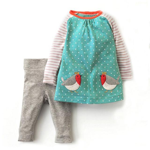 Girls' Cute Soft Cotton Clothes Set