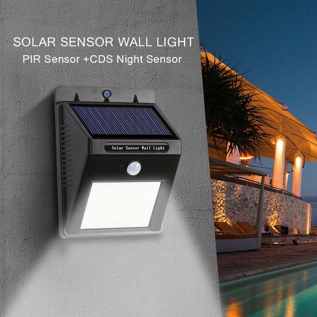 16led Outdoor Solar Sensor LED wall Light, PIR Motion Sensor ...