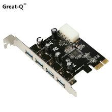Superspeed  4 Ports USB 3.0 USB3.0 HUB to PCI-E PCI Express Card Adapter VL805 Chipset Free Shipping цена