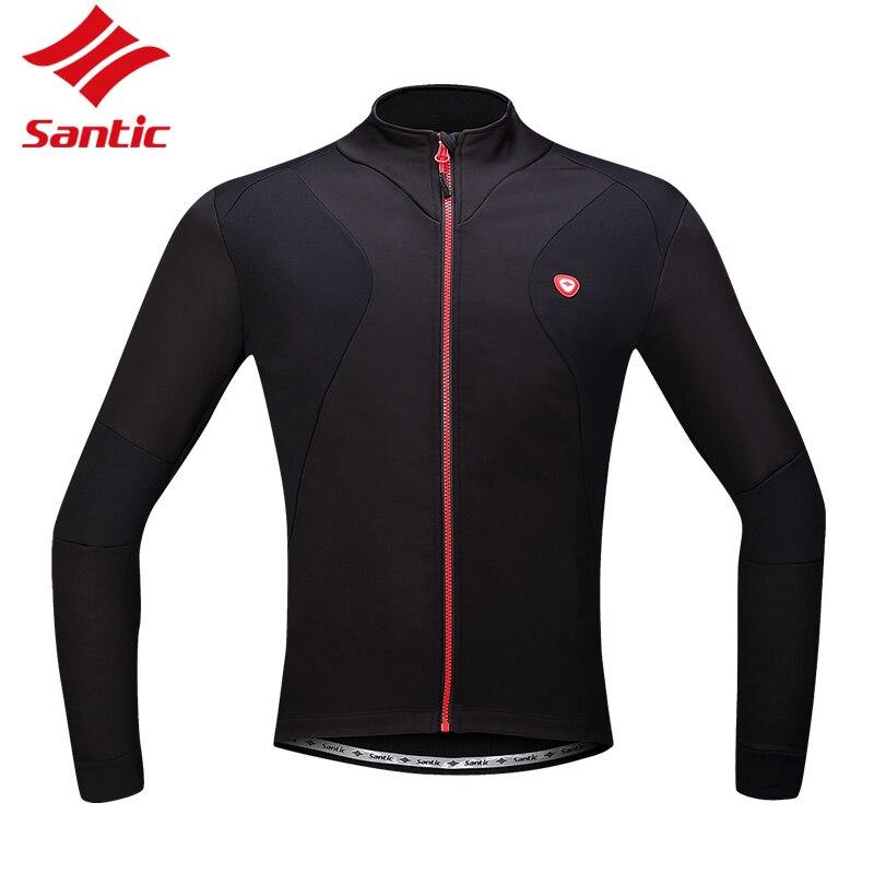 Santic hommes veste de cyclisme hiver thermique polaire vtt réfléchissant sport manteau cyclisme Jersey à manches longues coupe-vent imperméable