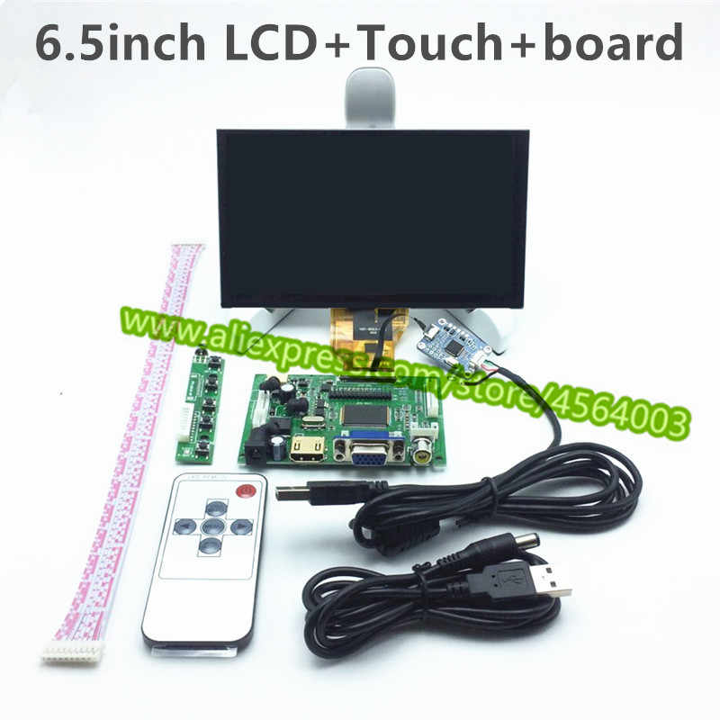 6,5 zoll 50pin TTL display LCD monitor AT065TN14 Controller Driver Board LCD Kapazitiven touchscreen Digitizer für raspberry pi