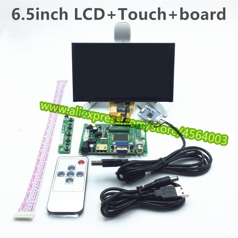 6.5 polegada display monitor LCD Placa de Driver de Controlador AT065TN14 TTL 50pin LCD Capacitive touch screen Digitador para raspberry pi