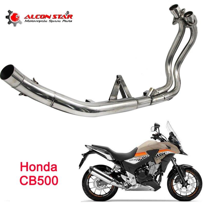 Sclmotos Нержавеющаясталь мотоцикл выхлопной MID ремонт глушителя разъем средней трубы с для Honda CB500 без выхлопных