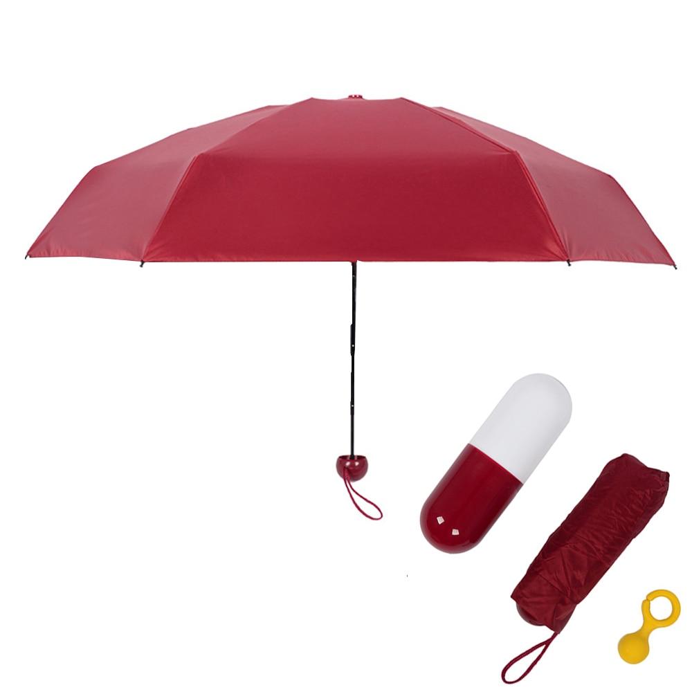 4 Couleurs Pluie Parapluie 5 Pliage Ultra-Léger Mini Pluie Parapluies Portable Noir Revêtement Parasol Poche Capsules Parapluie T20