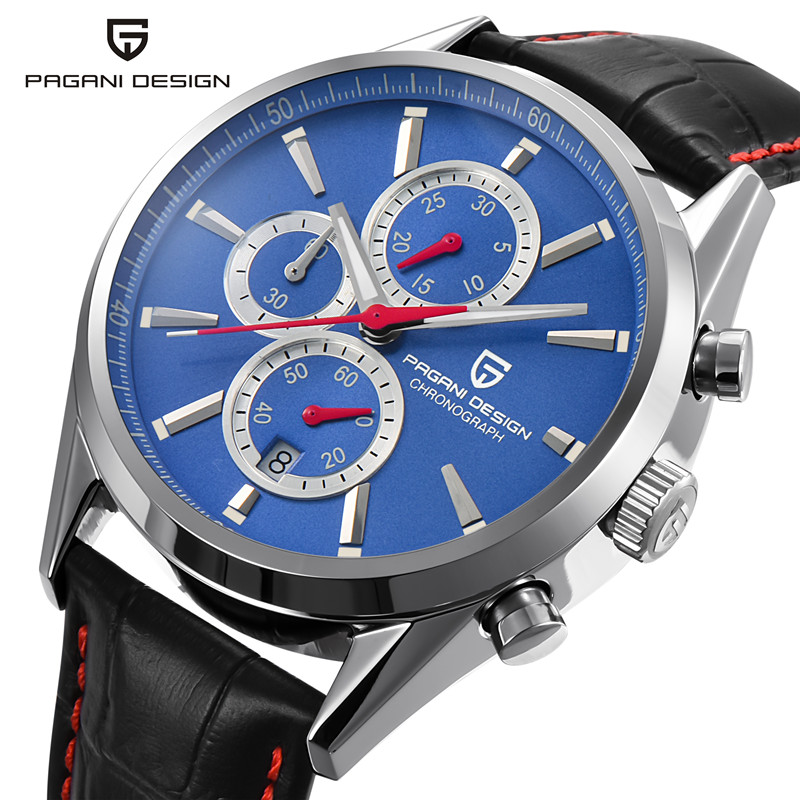 2017 Pagani Design Luxury Leather Watch Men Business Casual Male Quartz Wrist Watches Military Waterproof Relogio For Man Sport rebirth fashion man women luxury lover lady casual clock male female stylish business military wrist quartz sport watch 003a