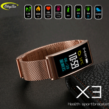 X3 IP68 Waterproof Smart Fitness Bracelet Pedometer Blood Pressure Fitness Tracker Call reminder Smart Wristband For iOS Android