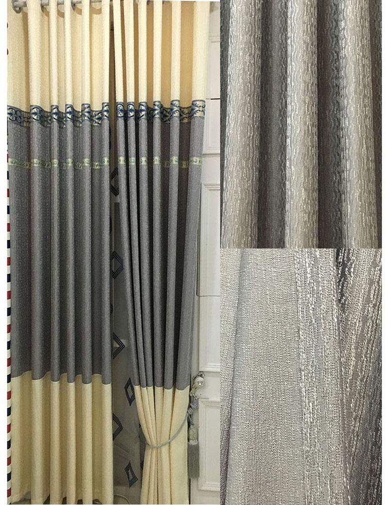new moderna ropa de algodn gris ventana cortinas para la sala de estar de alta calidad terminado cortina dormitorio cortina