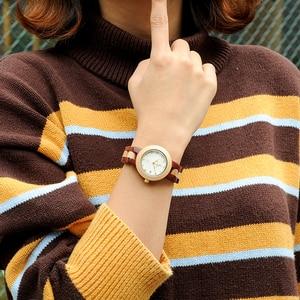 Image 1 - ボボ鳥女性クォーツ時計レロジオ feminino ファッションブランドレディー腕時計女性ギフトボックス木製ストラップ