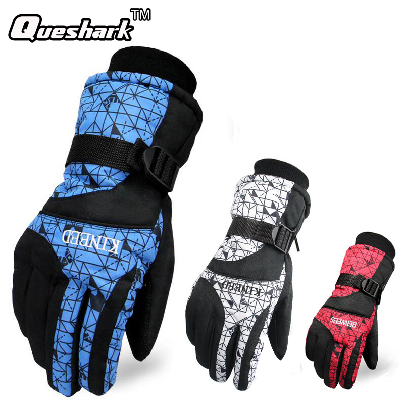 -30 Degree Waterproof Ski Gloves Men Women Warm Skiing Snowboard Gloves Snowmobile Motorcycle Riding Winter Outdoor Snow Mittens