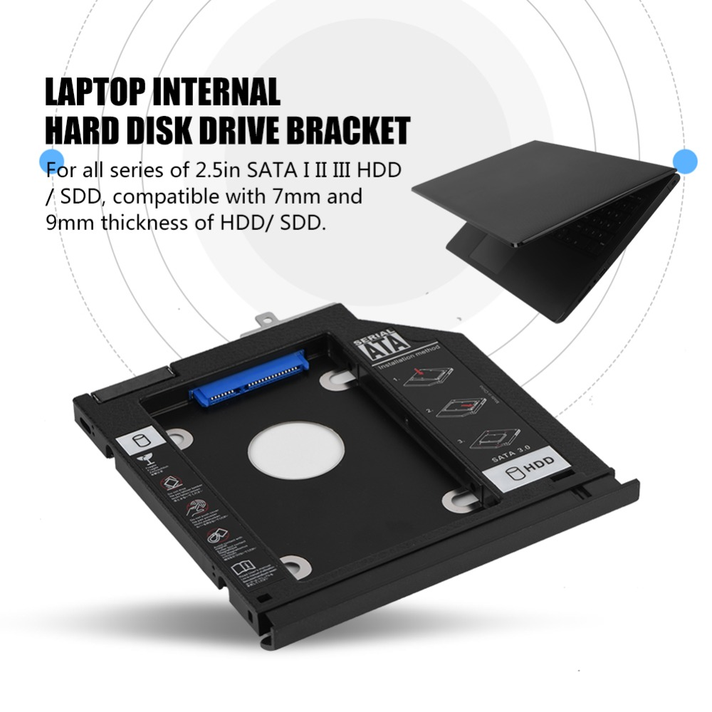 For ASUS A555 X555 F555 VM590Z W519L FL5600 FL5800 SATA 3.0 HDD Internal Enclosure Hard Disk Drive Laptop CD-ROM Bracket