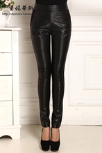 2017 Genuine leather women pants slim trousers sheepskin legging pencil skinny pants