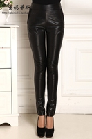 2017 Genuine leather women pants slim trousers sheepskin legging pencil skinny pants
