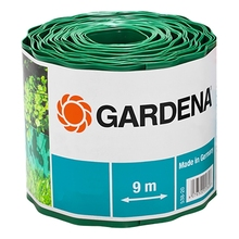 Бордюр GARDENA 00540-2000000 (Длина 9 м, высота 20 см, для обрамления цветочных клумб и газонов, предотвращает проникновение сорняков, материал- пластик)